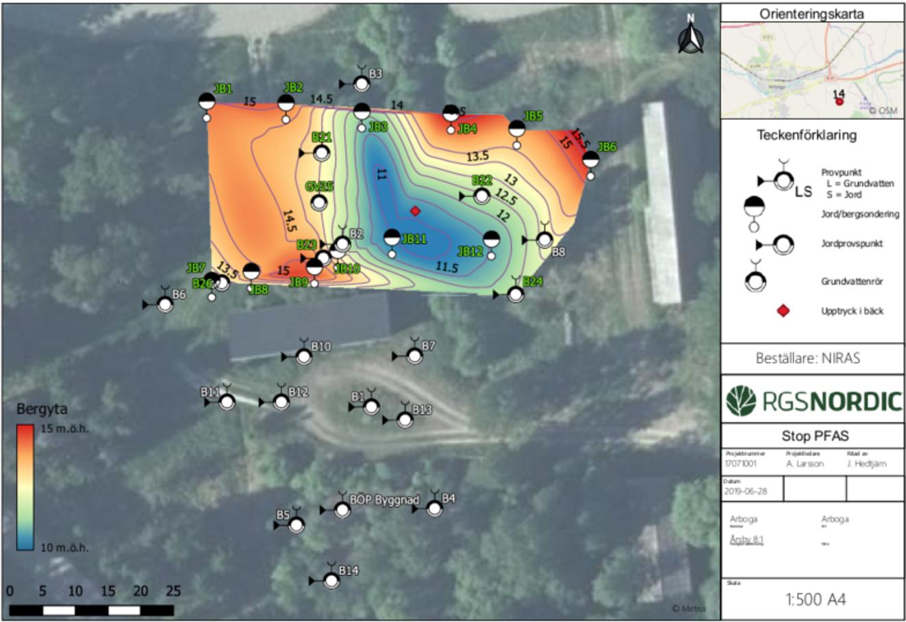 Arboga site map