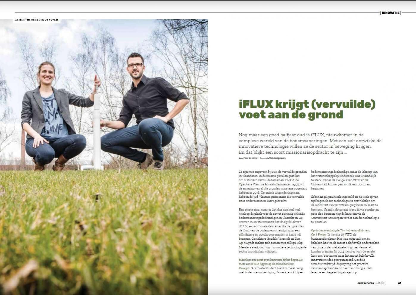 iFLUX in VOKA magazine bladzijde 1