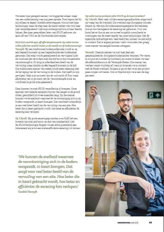 iFLUX in VOKA magazine bladzijde 2