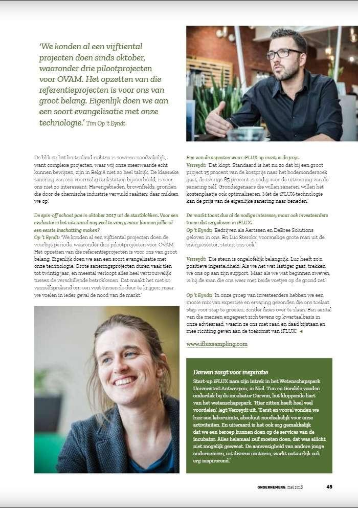 iFLUX in VOKA magazine bladzijde 3